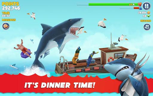 Evolução do tubarão faminto