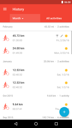 Runtastic Road Bike Tracker